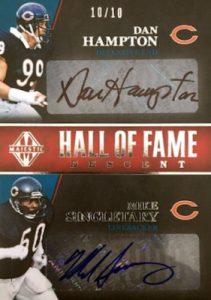 Hall of Fame Descent Dual Signatures Dan Hampton, Mike Singletary