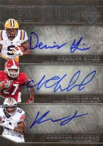New Blood Signatures Derrius Guice, Kerryon Johnson, Nick Chubb