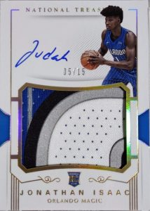 Rookie Patch Auto Gold Jonathan Isaac