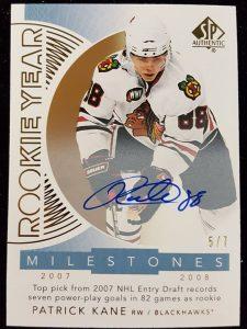 Rookie Year Milestones Autographs Patrick Kane