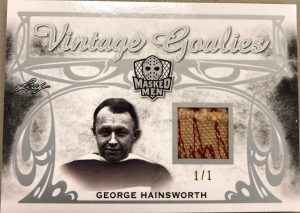 Vintage Goalies George Hainsworth
