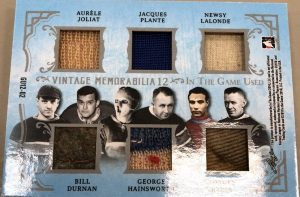 Vintage Memorabilia 12 Back Aurele Joliat, Jacques Plante, Newsy Lalonde, Bill Durnan, George Hainsworth, Georges Vezina