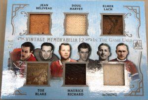 Vintage Memorabilia 12 Front Jean Beliveau, Doug Harvey, Elmer Lach, Toe Blake, Maurice Richard, Howie Morenz