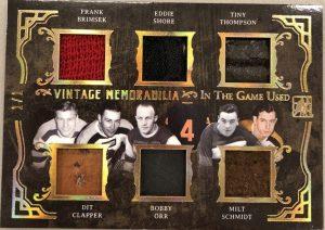 Vintage Memorabilia 6 Frank Brimsek, Eddie Shore, Tiny Thompson, Dit Clapper, Bobby Orr, Milt Schmidt