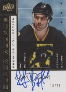 2002-03 Tribute Super Rookie Auto Patch Ray Bourque