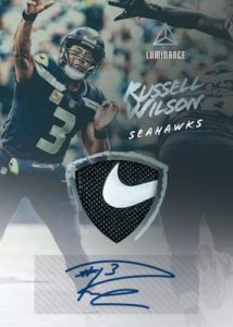 Autograph Jersey Patch Russell Wilson