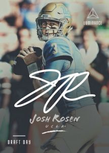 Draft Day Signatures Josh Rosen