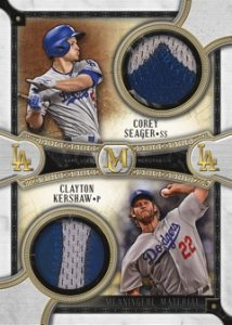 Dual Meaningful Material Patch Relic Gold Corey Seagar, Clayton Kershaw