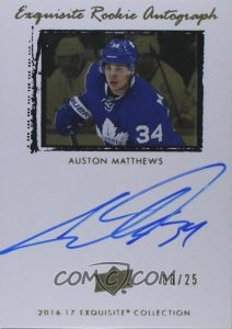 Exquisite 2009-10 Rookie Auto Tribute Auston Matthews