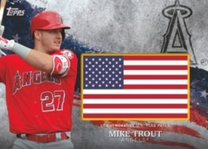 MLB Independence Day Flag Patch Mike Trout