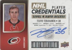 NHL Player Credentials Level 4 Auto Teuvo Teravainen