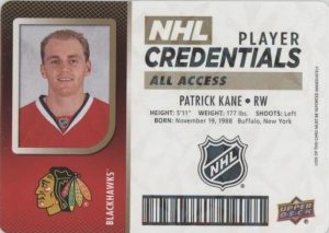 NHL Player Credentials Level 5 All Access