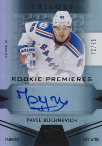 Rookie Premieres Level 2 Black Auto Pavel Buchnevich