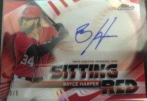 Sitting Red Autographs Bryce Harper