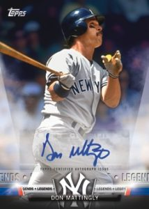 Topps Salute Auto Don Mattingly