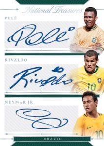 Triple Signatures Pele, Rivaldo, Neymar Jr