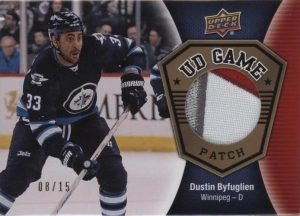 UD Game Jersey Patch Dustin Byfuglien