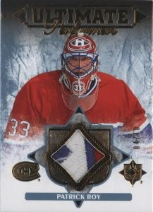 Ultimate Performers Gold Patch Patrick Roy