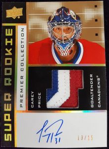 2002-03 Tribute Auto Patch Carey Price