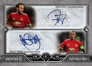 Archival Autos Dual Juan Mata, Ashley Young