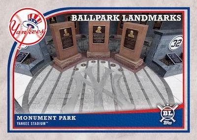 Ballpark Landmarks Monument Park