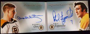 Dual Signature Booklets Bobby Orr, Phil Esposito