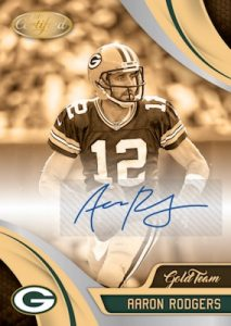 Gold Team Signatures Aaron Rodgers