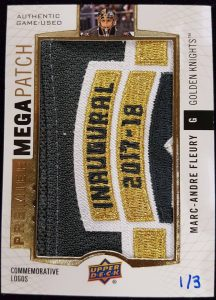 Mega Patch Commemorative Logos Marc-Andre Fleury