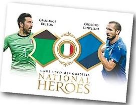 National Heroes Dual Relics Gianluigi Buffon, Giorgio Chellini