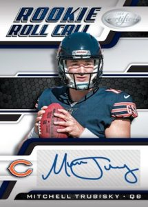 Rookie Roll Call Signatures Blue Mitchell Trubisky