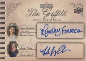 The Griffith Hotel Guest Book Dual Auto Lyndsy Fonseca, Hayley Atwell