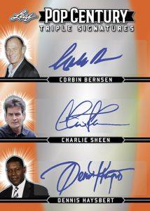 Triple Signatures Corbin Bernsen, Charlie Sheen, Dennis Haysbert