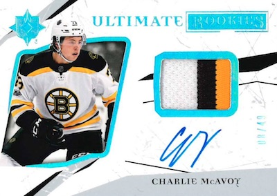 Ultimate Rookie Patch Auto Charlie McAvoy