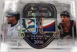 All-Time Enshrined Prime Relics Ken Griffey Jr, Allen Iverson