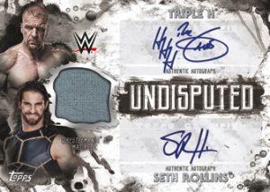 Classic Matches Dual Auto Relic Triple H, Seth Rollins