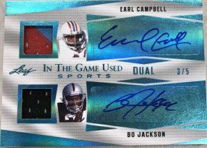 Dual Auto Earl Campbell, Bo Jackson