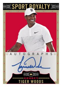Goudey Sport Royalty Autos Tiger Woods