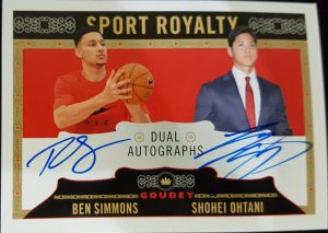 Goudey Sport Royalty Dual Autos Ben Simmons, Shohei Ohtani