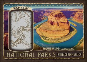 National Parks Vintage Map Relics Horseshoe Bend