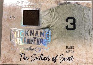 Nickname Hall of Fame Babe Ruth