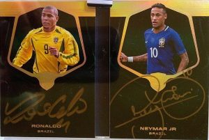 Passing the Torch Auto Booklet Ronoldo, Neymar Jr