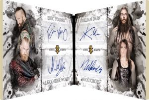 Quad Auto Booklet Eric Young, Alexander Wolfe, Killian Dain, Nikki Cross