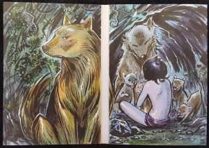 The Jungle Book Dual-Panel Sketch Booklet