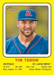 1969 Collector Cards Tim Tebow