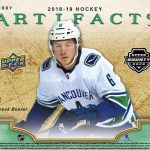 2018-19 UD Artifacts Odds