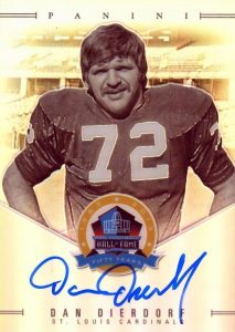 50th Anniversary Hall of Fame Signatures Dan Dierdorf
