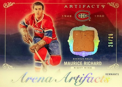 Arena Artifacts Montreal Canadiens Maurice Richard