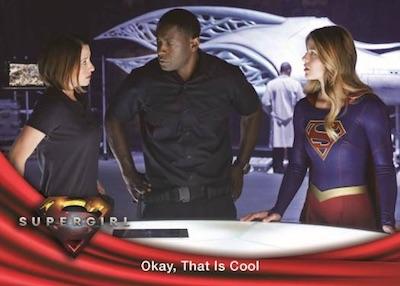 Supergirl Season 1 Rainbow Foil Base Card #21 Supergirl vs Red Tornado