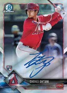 Chrome Rookie Autos Shohei Ohtani