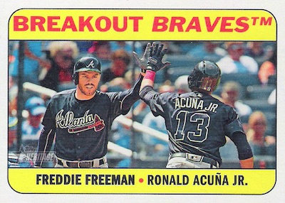 Combo Cards Freddie Freeman, Ronald Acuna Jr